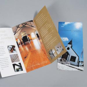 two folded leaflets