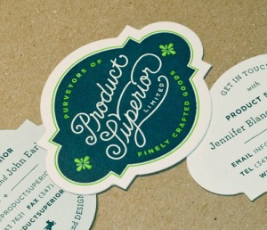 die cut business cards